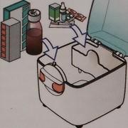 medicijndoos klein voor grote en kleine verpakkingen met uitneembaar rekje