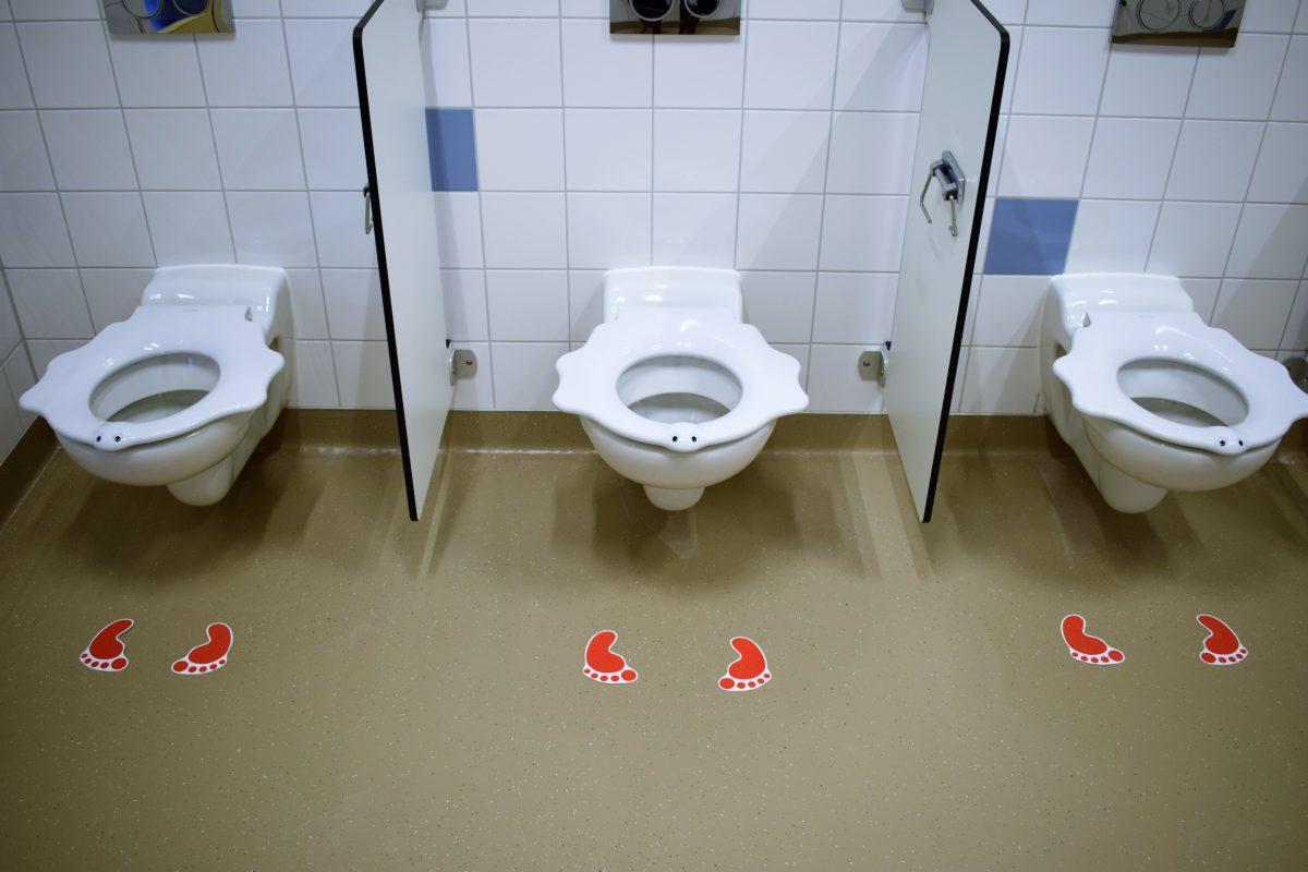 Anti-slip-Steps voor toilet